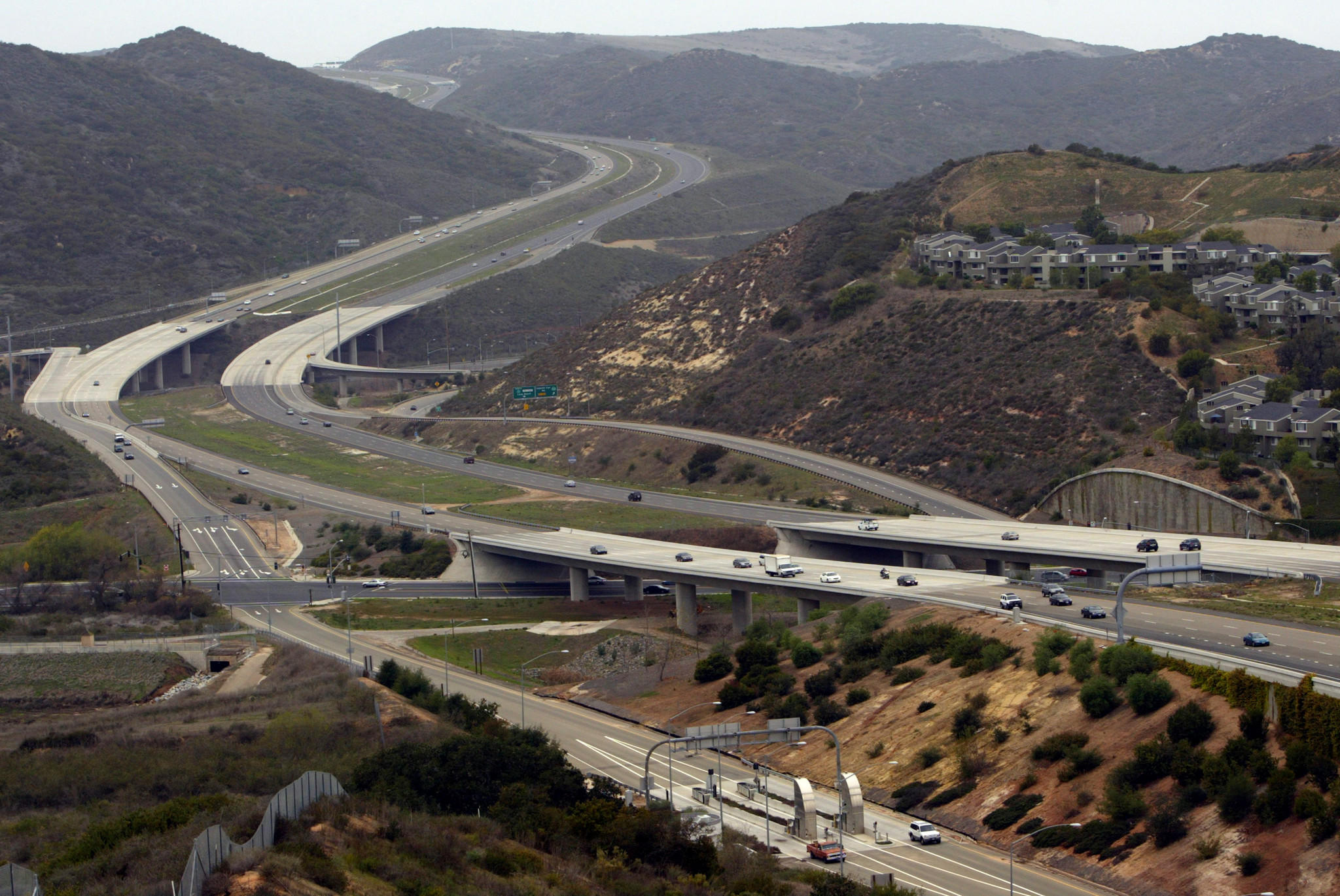 The CEO of the Transportation Corridor Agencies came under fire from some board members earlier this year for signing off on thousands in contracts with only the signature of Foothill/Eastern Transportation Corridor Agency Chairwoman Lisa Bartlett. Above, a section of the San Joaquin Hills Transportation corridor, which runs along coastal Orange County.