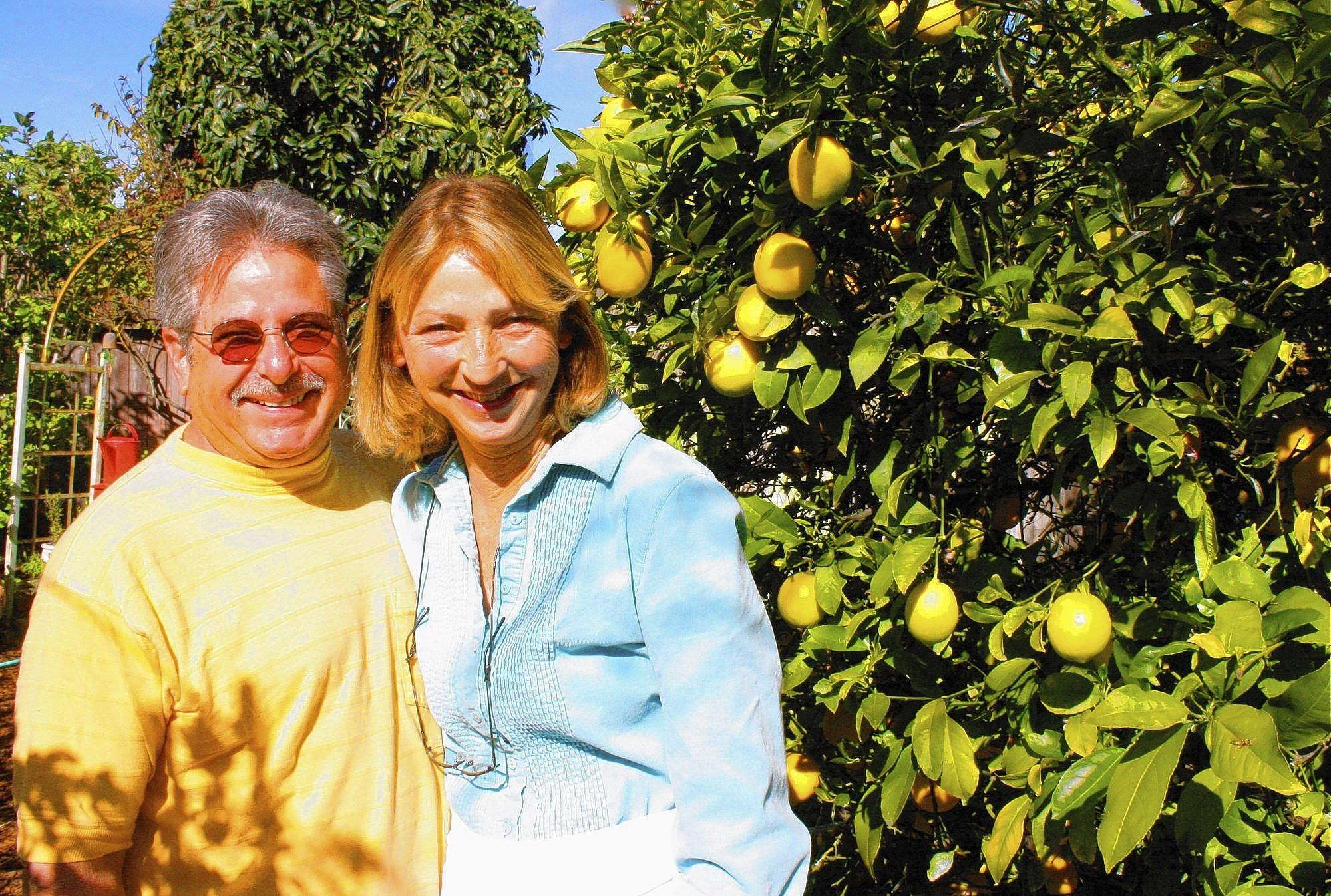 Jeff and Fran Lebow in their backyard founded The Harvest Club, now led by the OC Food Access Coalition