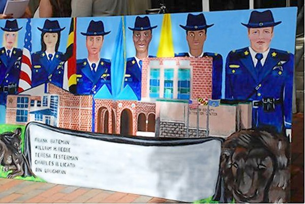 The mural to be displayed at the Harford County Detention Center honors fallen sheriff's deputies and corrections officers who died in the line of duty.