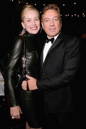 Sharon Stone and Kevin Huvane