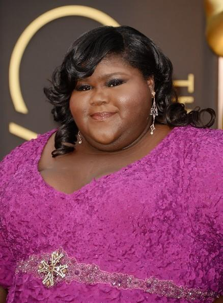 Actress Gabourey Sidibe attends the Oscars held at Hollywood & Highland Center on March 2, 2014 in Hollywood, Calif.