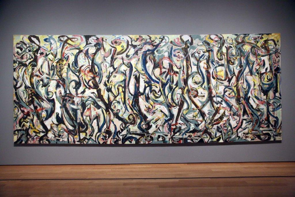 Is jackson pollock 39 s name hidden in 39 mural 39 latimes for Mural jackson pollock