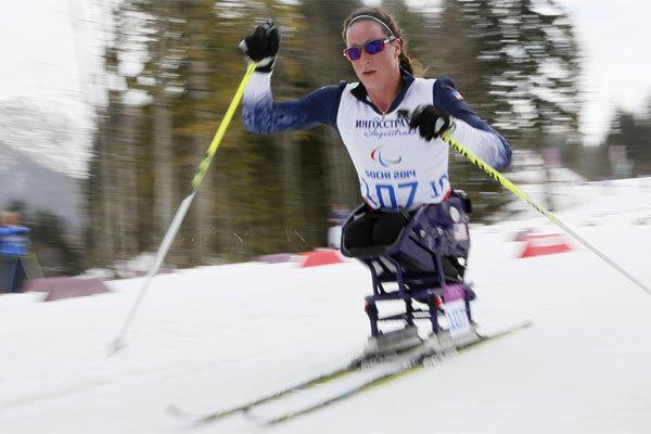 U.S. cross-country skier Tatyana McFadden won silver the 1-kilometer sprint Wednesday at the 2014 Sochi Paralympics.