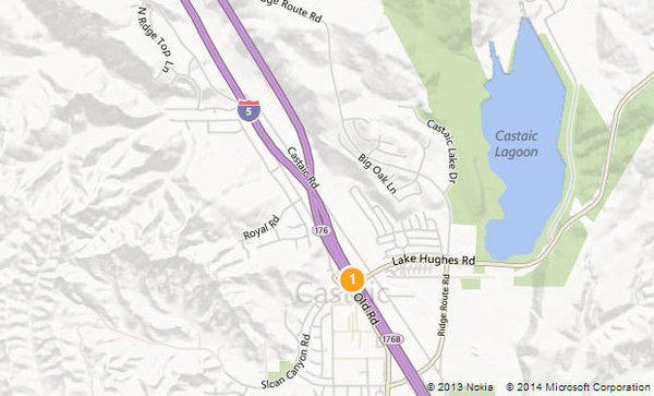 Northbound lanes of Interstate 5 were closed Wednesday morning after a big-rig crash near Lake Hughes Road in Castaic.
