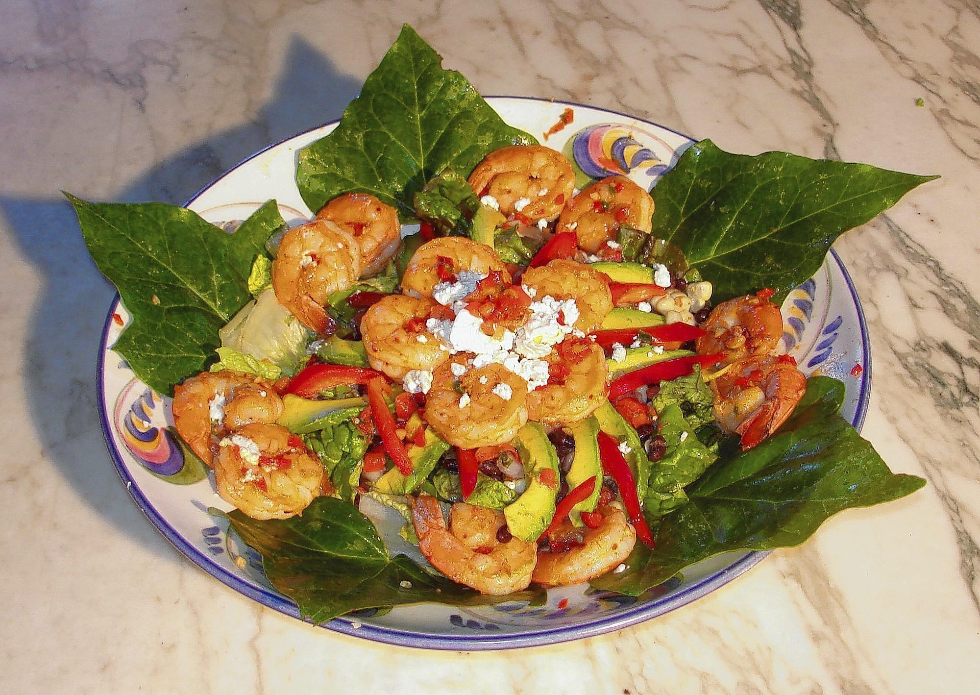 A Tex Mex shrimp salad,
