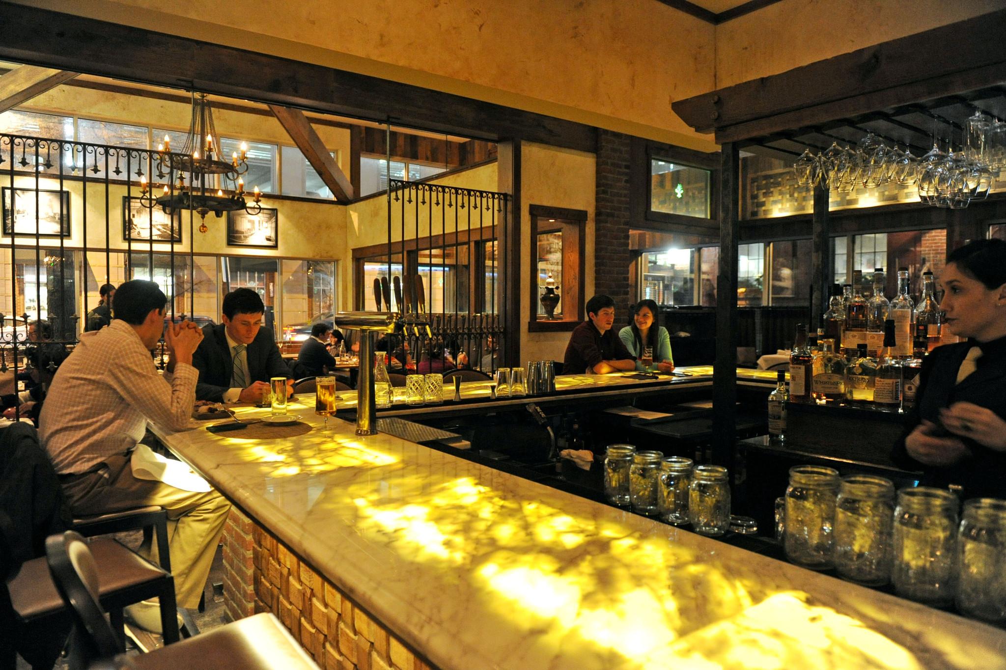 The bar at the Tavern Room.