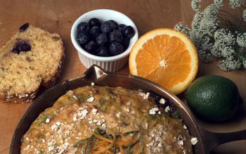 Lemon-lime blueberry soda bread