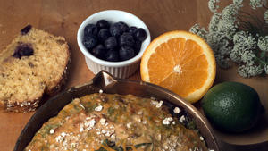 Lemon-lime blueberry soda bread