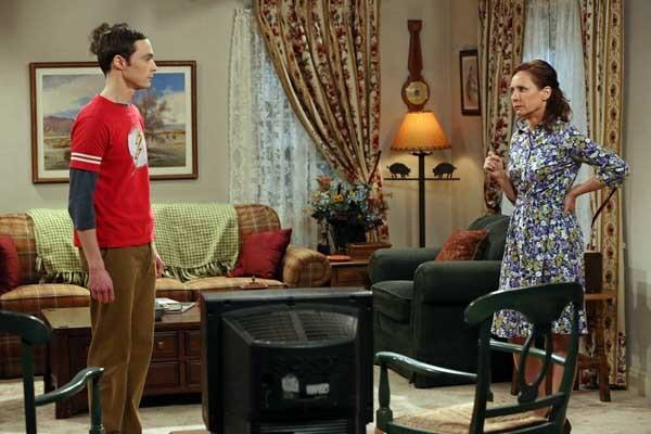 "Sheldon's (Jim Parsons) mom (Laurie Metcalf) has a surprise for him on ""The Big Bang Theory"" on CBS."