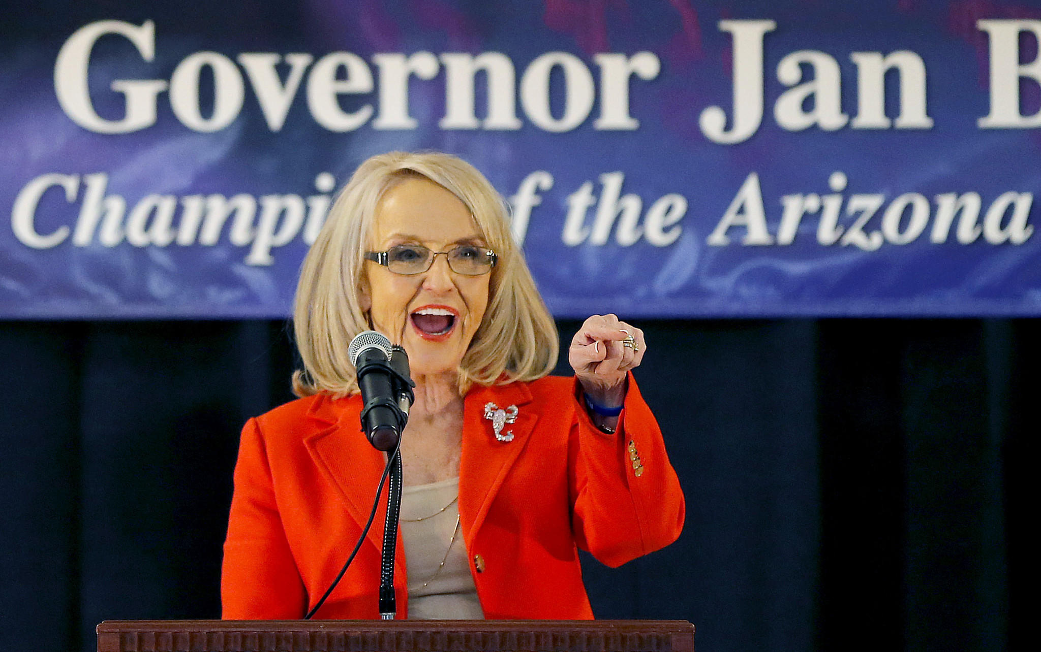 Arizona Gov. Jan Brewer announces she will not seek a third term and will retire at the end of her current term.