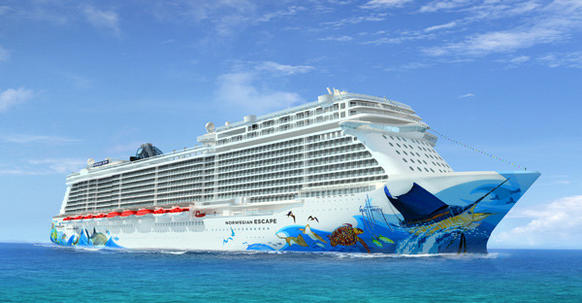 The hull art for the Norwegian Escape will be done by Guy Harvey. The Escape will join Norwegian Cruise Line's fleet in October 2015 and sail out of PortMiami.