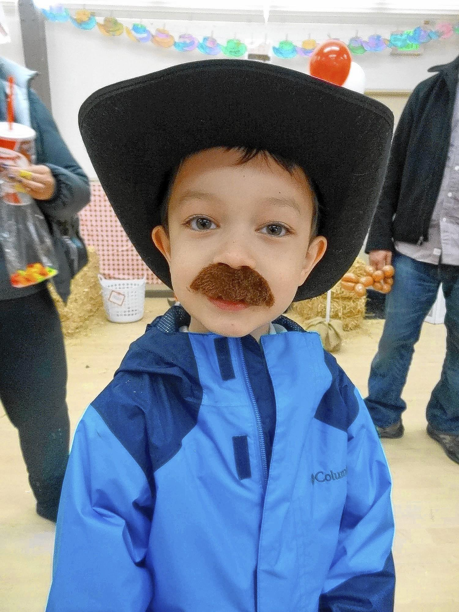 Michael Johnson, 5, gets into the cowboy spirit during the 21st Annual Western Round Up at the La Cañada Flintridge Community Center Preschool this month.