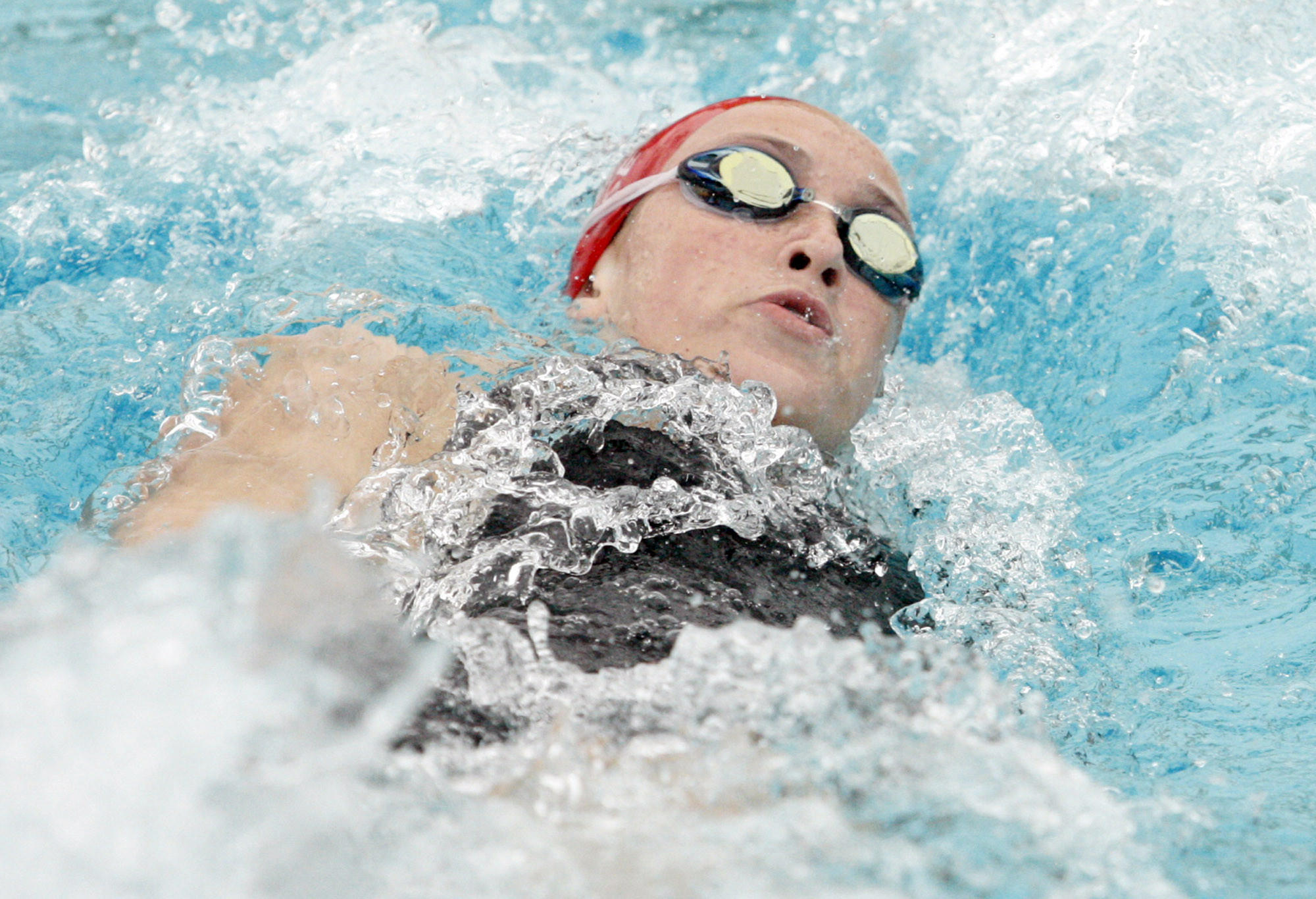 FSHA's Kirsten Vose participates in the individual medley during a swim meet L.A. Valley College pool in Van Nuys on Tuesday, May 1, 2012.