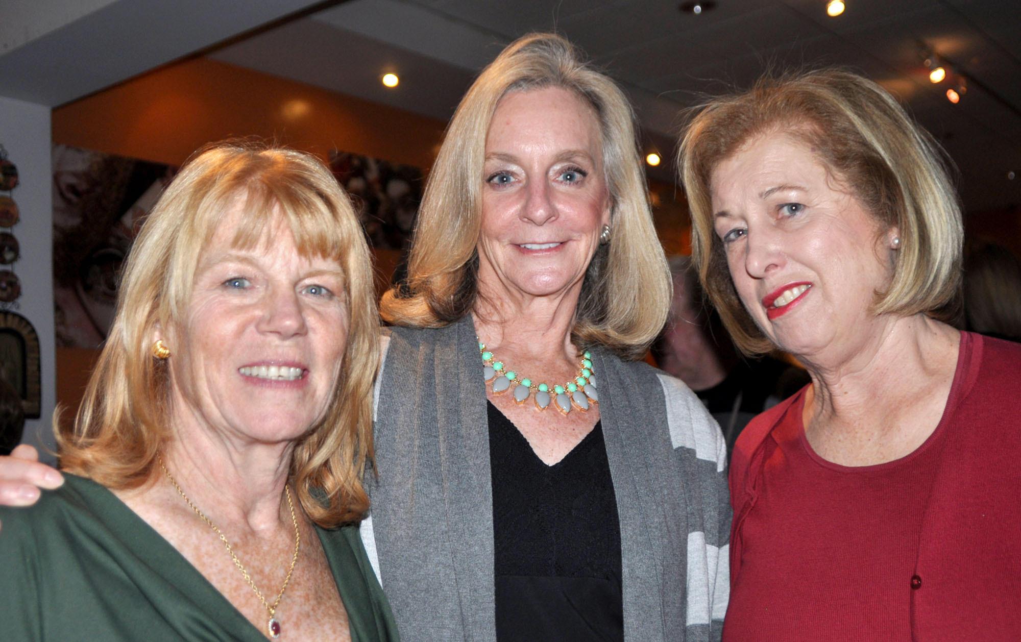 "Annsley Strong, from left, Paulette Lang and Mary Pinola jointly hosted a ""Dinners from the Heart"" evening at Cucina Rustica in Montrose. Lang is on the Hathaway Sycamores Governing Board. Strong and Pinola are on the agency's advisory board."