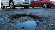 Chicago potholes blossom with spring