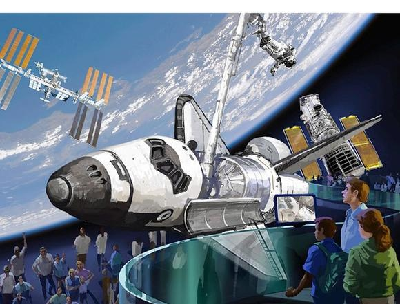 Rendering of shuttle display at Kennedy Space Center Visitor Complex
