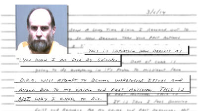 Convicted Killer Steven Hayes Sent Suicide Note To Courant