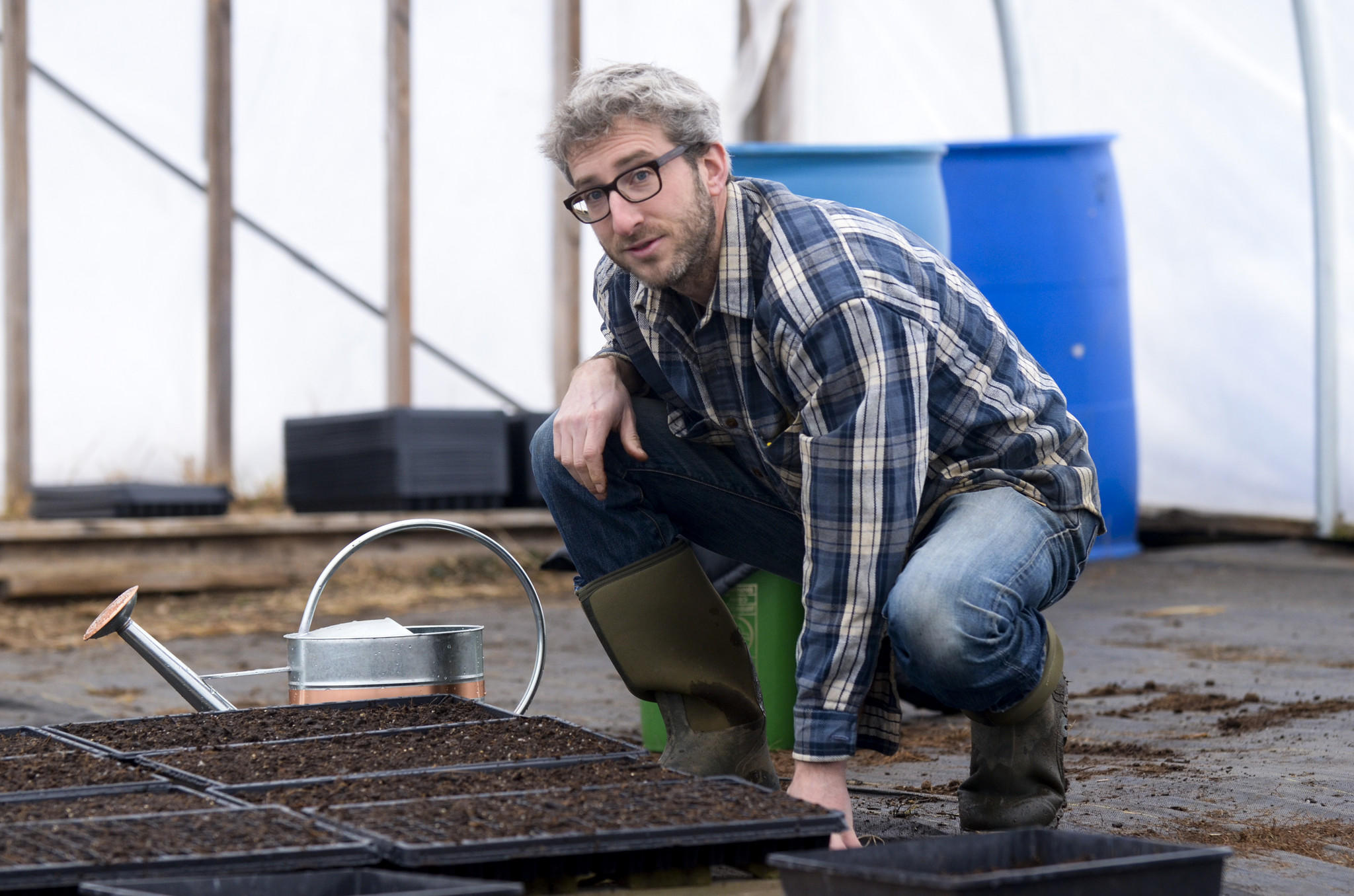 Ben Harris, who started Root Down Farm, will be seeding to prepare for the summer season.