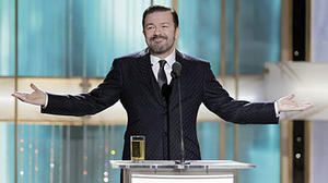 Golden Globes: Ricky Gervais gets back almost as good as he gives