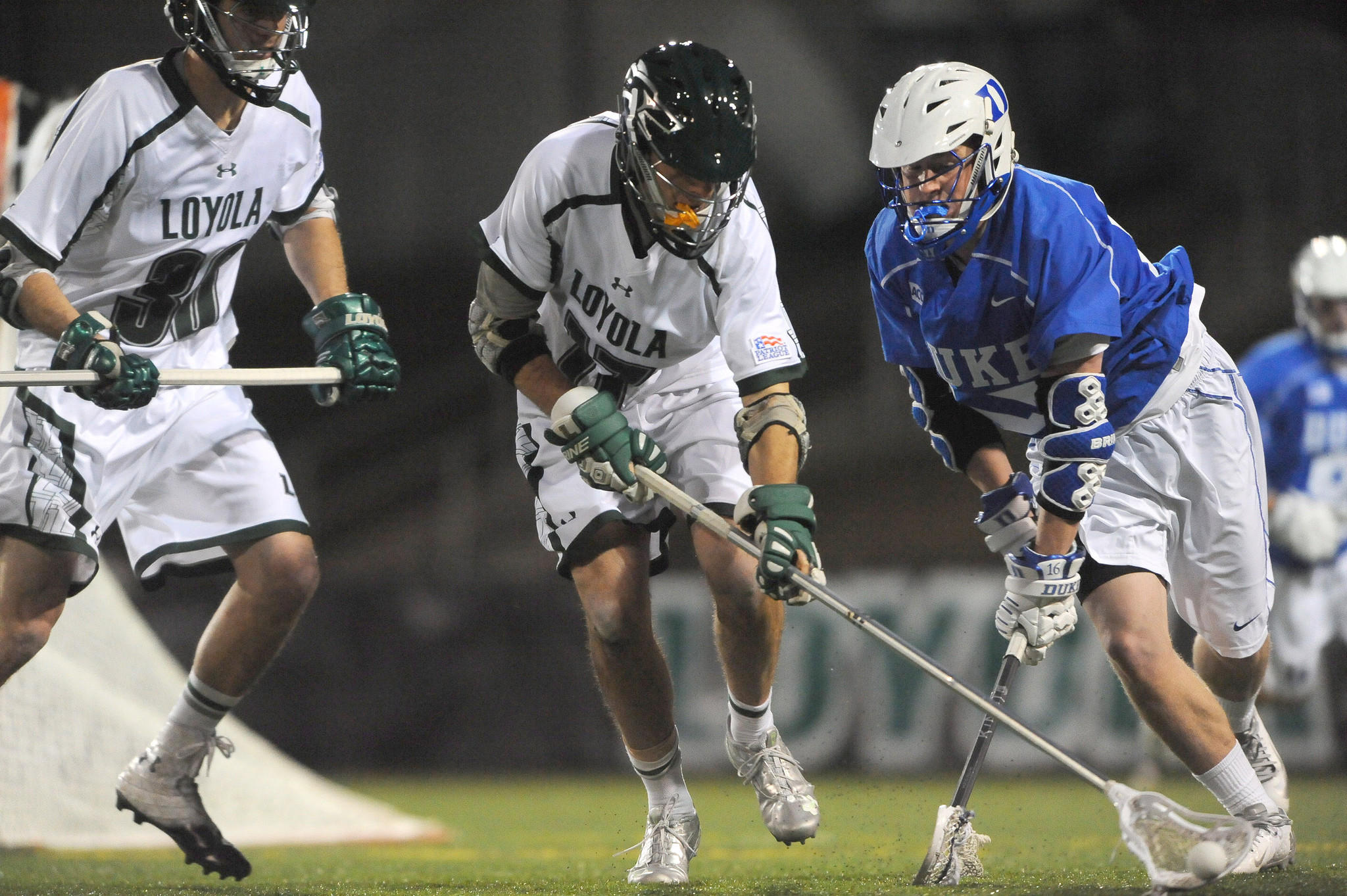 Senior midfielder Matt Sawyer and junior attackman Nikko Pontrello starred in then-No. 5 Loyolas 14-7 pasting of No. 6 Duke on Sunday, but Fletcher was responsible for snuffing out the Blue Devils' brightest star. The 6-foot-2, 185-pound senior defenseman limited senior attackman Jordan Wolf to a single goal on seven shots and zero assists. Wolf had entered the game leading Duke in goals (12) and assists (10). Fletcher also tied Blue Devils senior faceoff specialist Brendan Fowler with a game-high seven ground balls. For his performance, Fletcher - who leads the Greyhounds in caused turnovers (11) and is tied with freshman faceoff specialist Graham Savio in ground balls (25) - was named the Patriot League Defensive Player of the Week for the second time in three weeks.