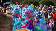 Colorful characters play key roles in Disney's new parade