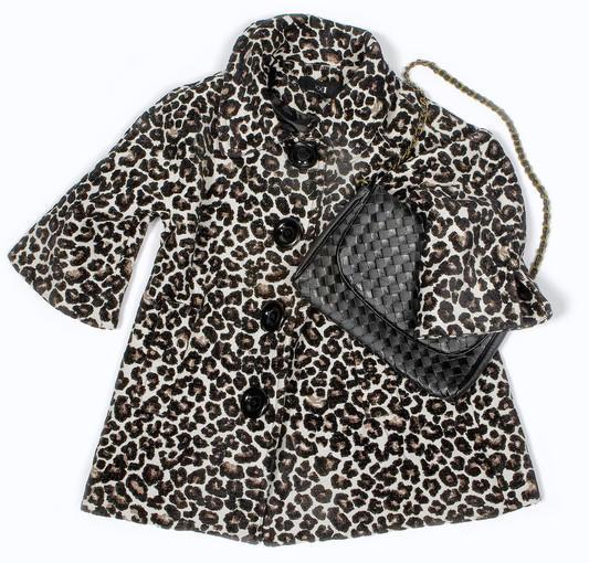 Leopard coat: $42.80<br> <br> Woven purse: $26.80<br> <br> <b>Total: $69.60</b>