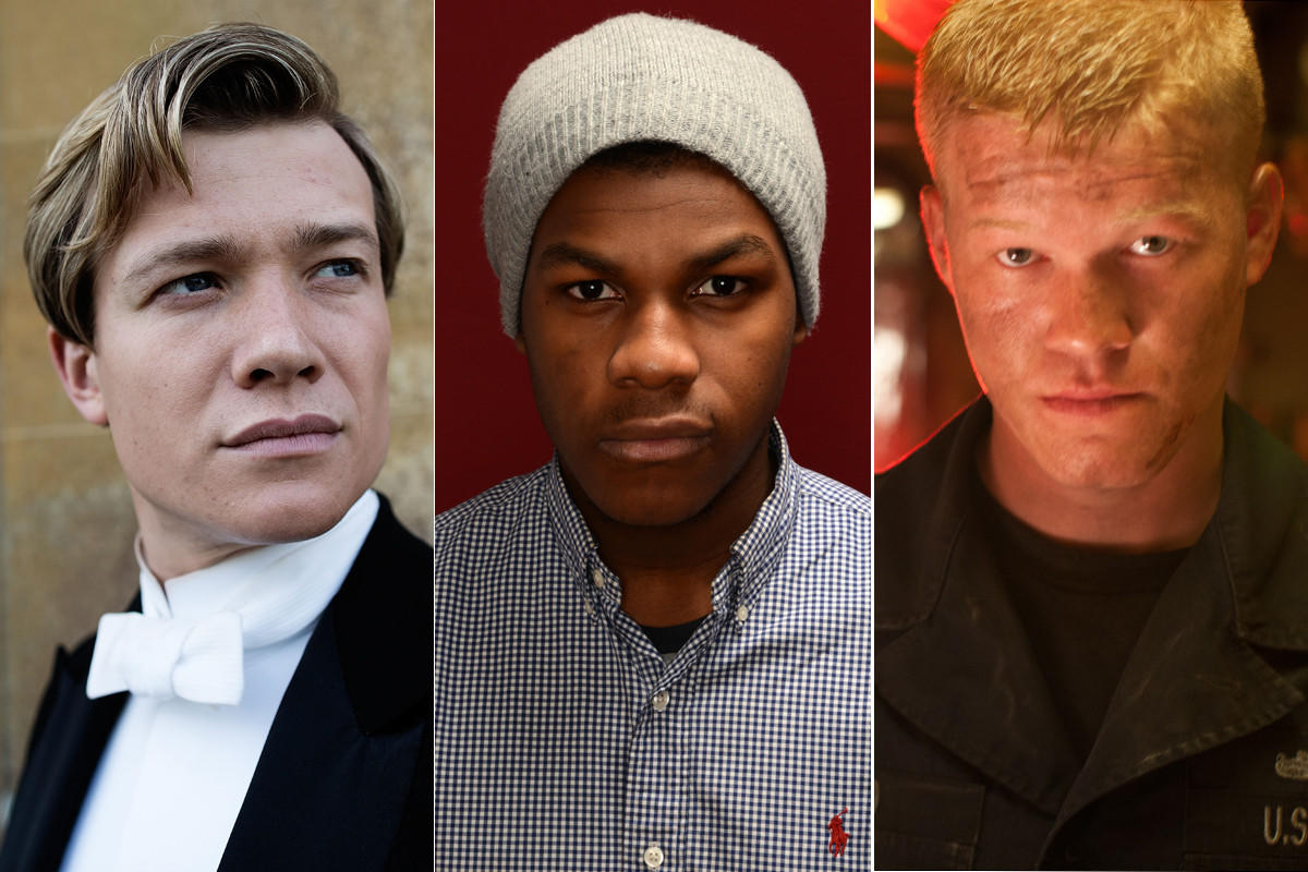"Ed Speleers, left, John Boyega and Jesse Plemons are three of the five actors reported to be vying for the ""Star Wars: Episode VII"" part of a young Jedi."