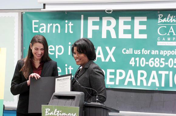 Mayor Stephanie Rawlings-Blake, Sara Johnson