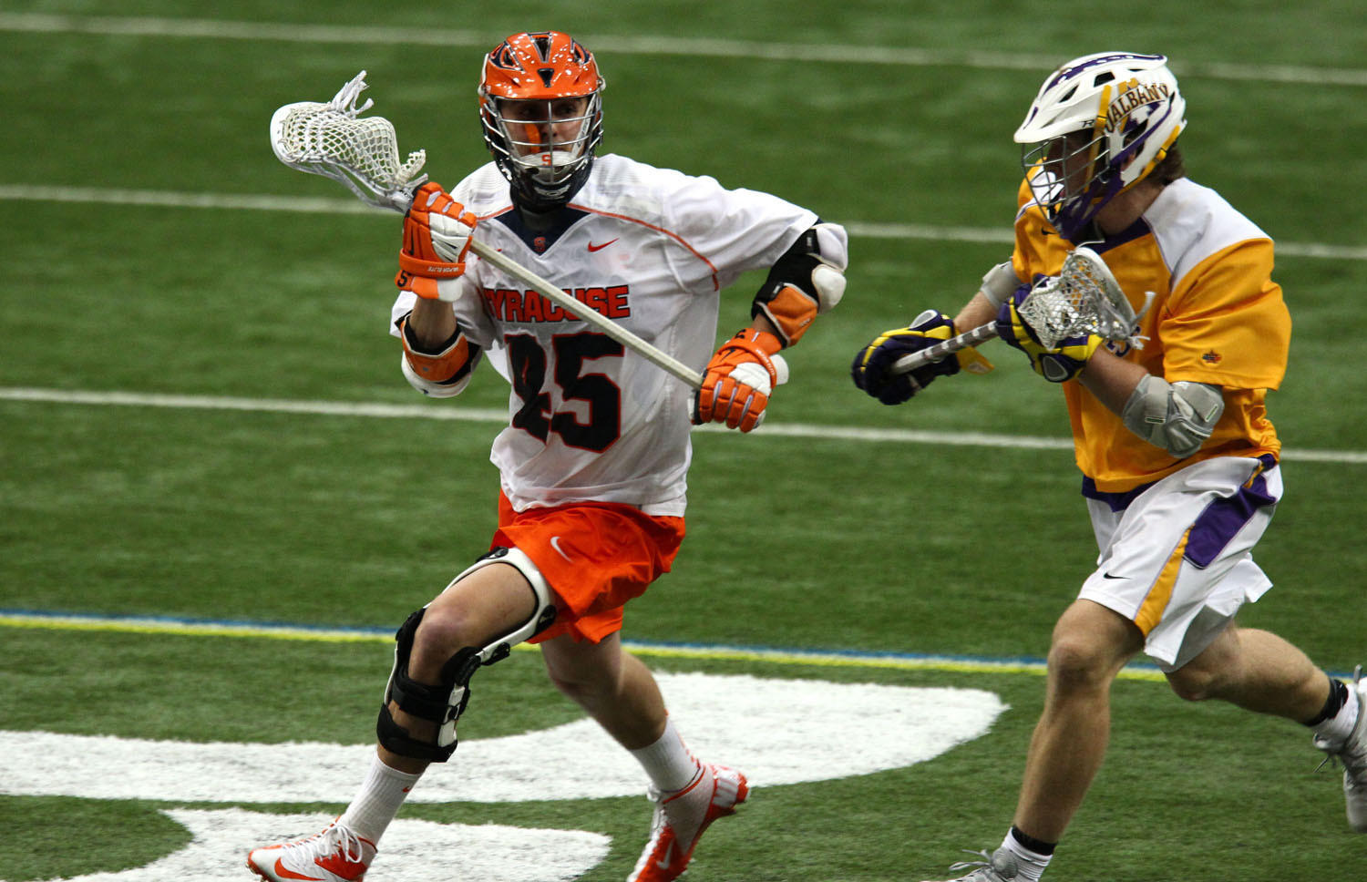 Standout transfer Randy Staats is questionable for Syracuse's game Saturday against Johns Hopkins.