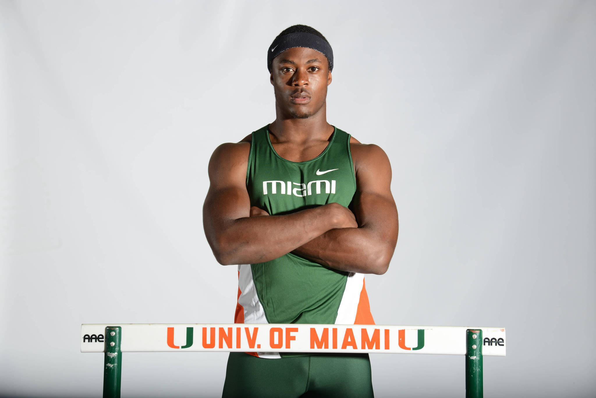 University of Miami corner Artie Burns hasn't been participating in spring practice for the Hurricanes--because he has his eyes set on winning a national championship as a hurdler on Miami's track team.