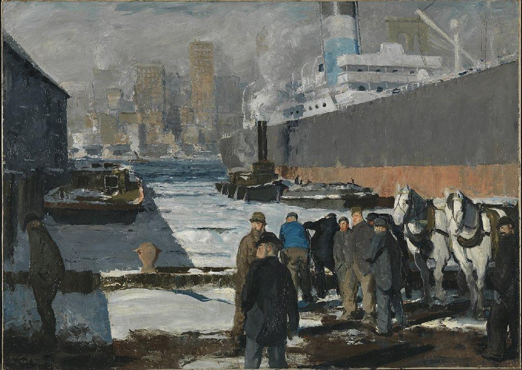 "George Bellows' 1912 ""Men of the Docks"" was sold by the Maier Museum of Art in Virginia to Britain's National Gallery."