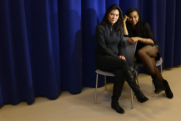 Director Diane Paulus, left, and playwright Suzan-Lori Parks at the New 42nd Studios in Manhattan, NY.