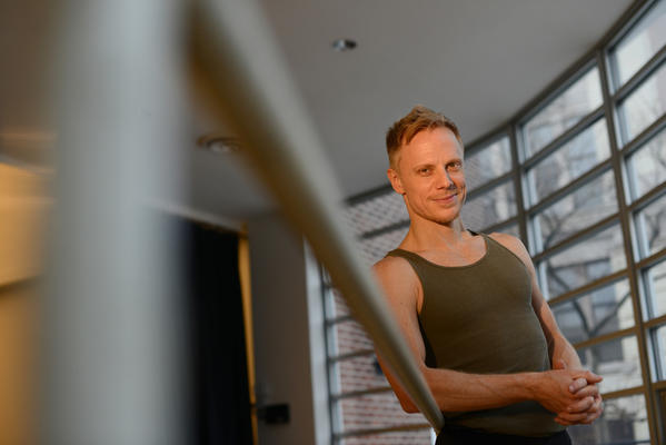 Michael Trusnovec, senior dancer at the Paul Taylor Dance Company, at the studio in Manhattan, NY.