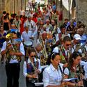 Summer festa in Cerreto, Italy