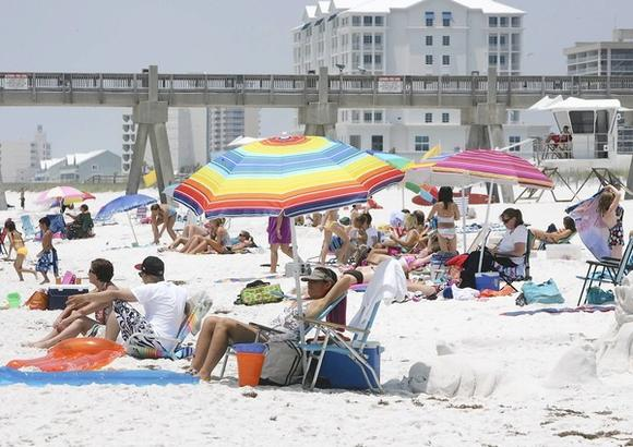 The beaches in Pensacola