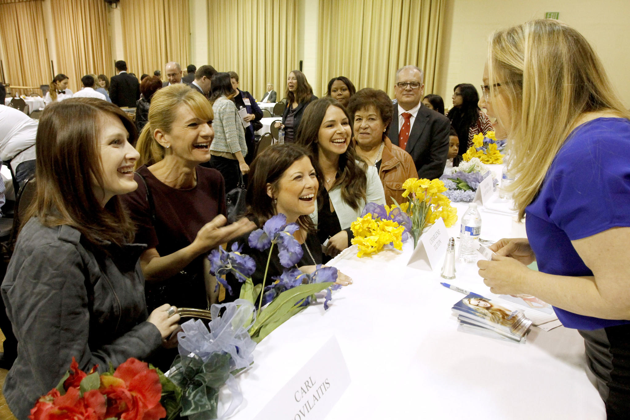 Fans met with inspirational speaker and actress Charlene Tilton after the 51st annual Glendale Mayor's Prayer Breakfast held at the Glendale Civic Auditorium on Thursday, March 13, 2014. (