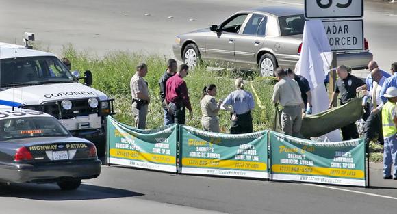 Body of motorcyclist shot on Glendale (2) Freeway
