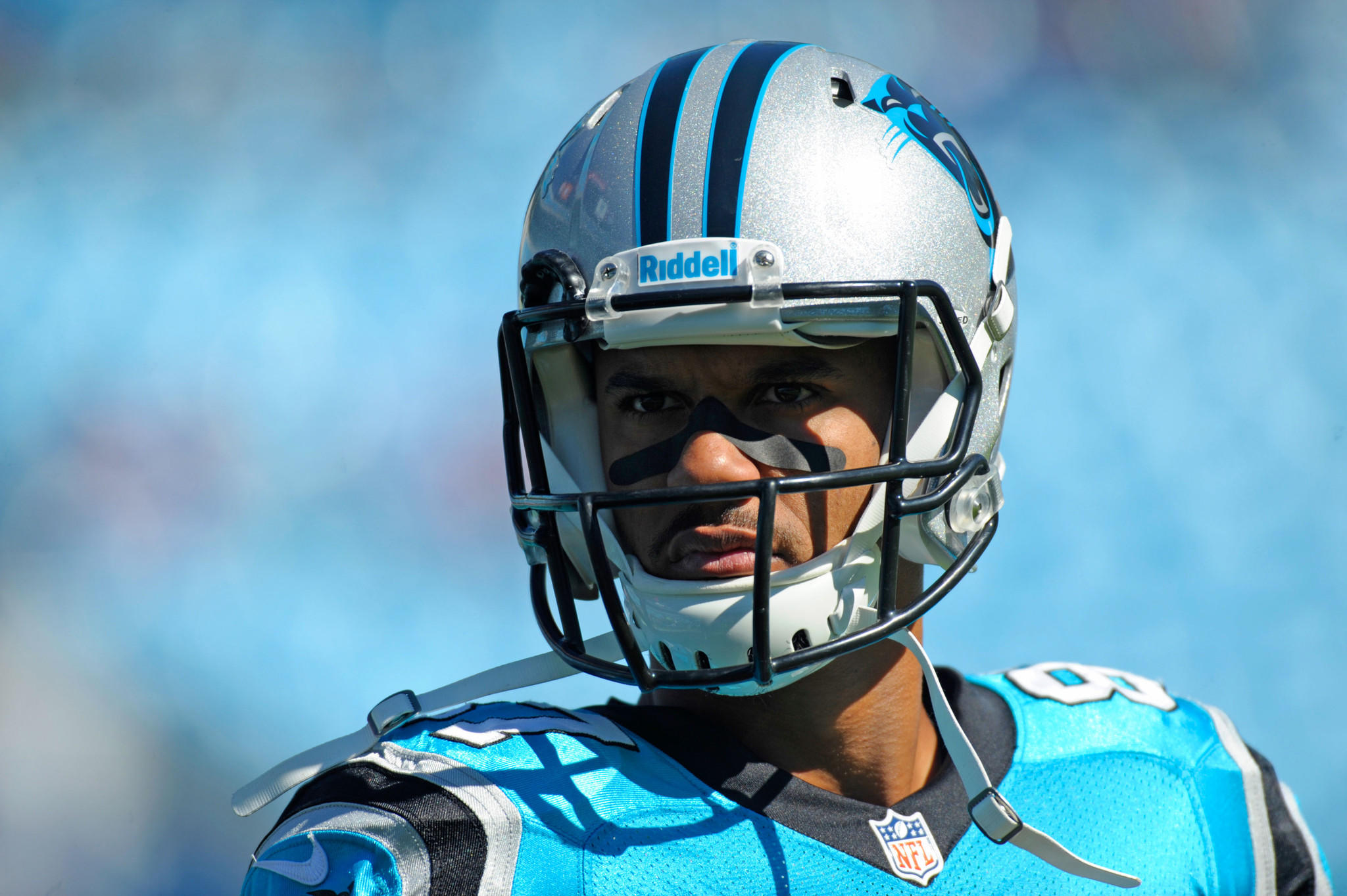 Panthers wide receiver Domenik Hixon before a 2013 game.
