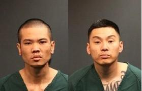 Michael Nguyen, left, and Justin Phabmixay were arrested on suspicion of kidnapping and robbery Thursday.