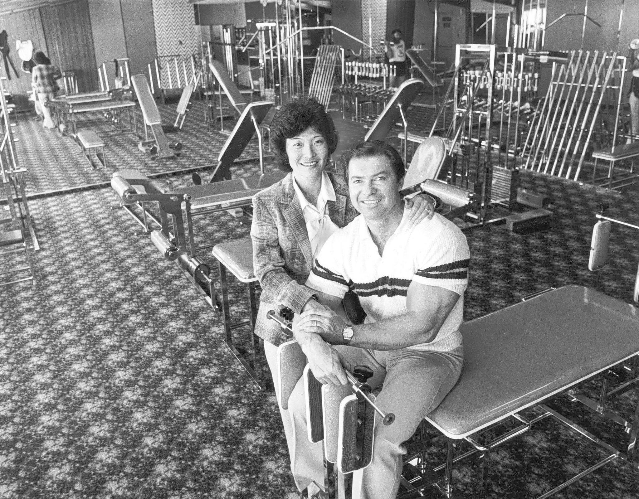 Larry Scott and wife Rachel in 1980. The legendary bodybuilder, who retired in 1966 after winning his second Mr. Olympia title, saying he wanted to go out on top, has died in Utah at age 75.
