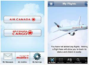 Air Canada's iPhone app