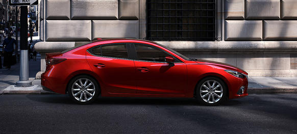 "The base model sedan starts just under $17,000. Our model as tested was $24,635. A more spacious redesign for 2014 improves the fuel economy and power of Mazda's best seller <a href=""http://cars.chicagotribune.com/fuel-efficient/news/chi-2014-mazda3-review-20131007"">Full review</a>"