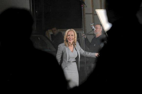 """Crisis"" star Gillian Anderson discusses how she should react during one of her scenes in an episode of the new TV drama."