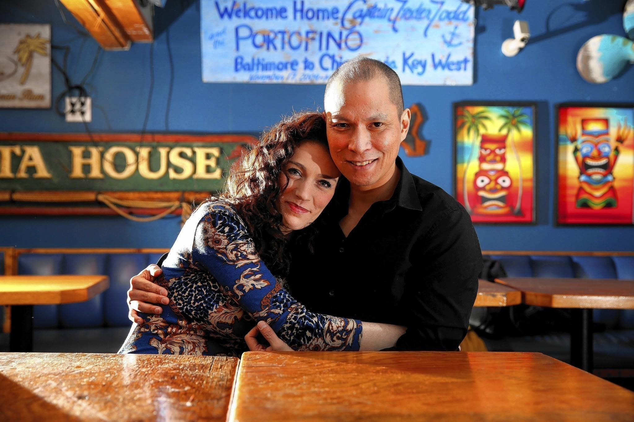 Laura Gibson and Jared Delariman at Trader Todd's in Chicago's Lakeview neighborhood on March 4, 2014.