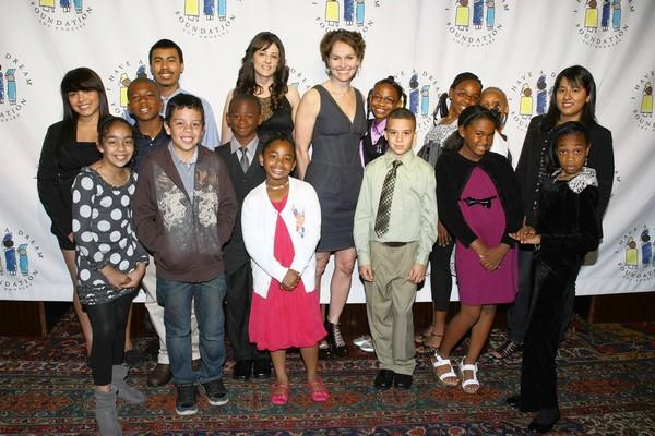 "Amy Brenneman and ""I Have a Dream"" program participants."