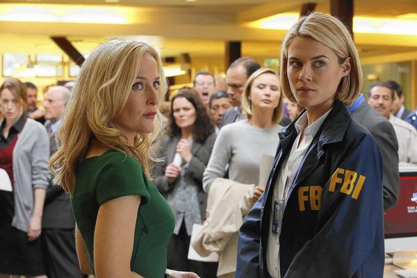 "Gillian Anderson , left, and Rachael Taylor star in ""Crisis."""