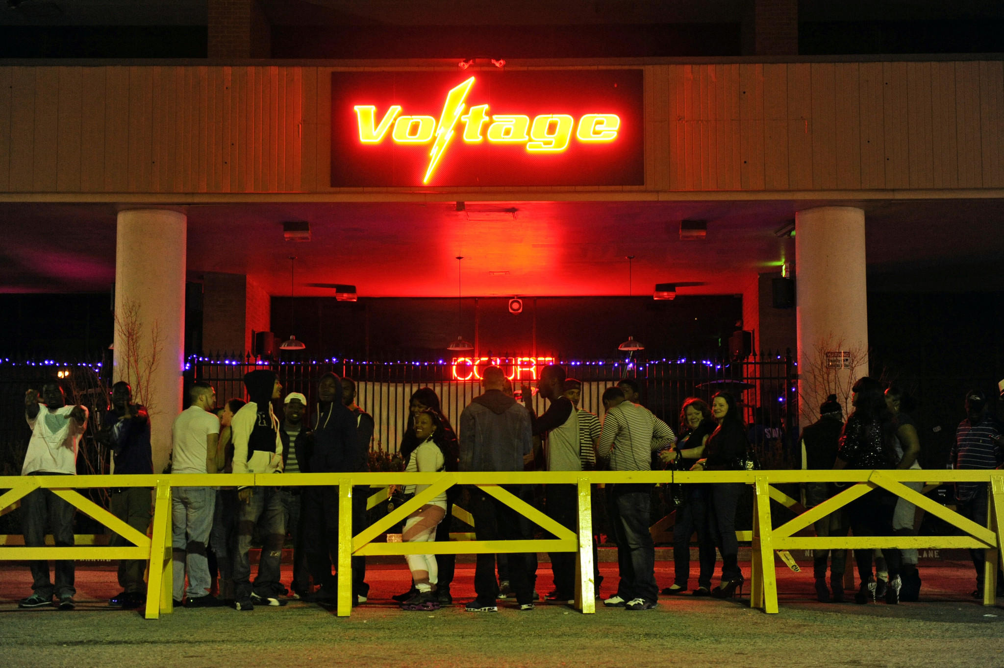 Patrons wait to enter Voltage nightclub in this file photo.