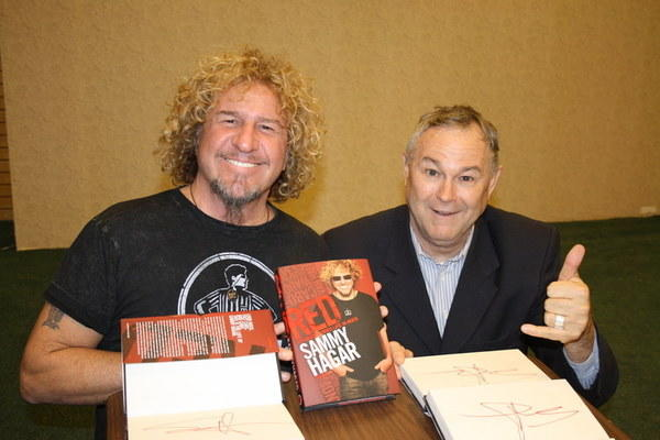 Rocker Sammy Hagar, left, with his friend, Rep. Dana Rohrabacher.