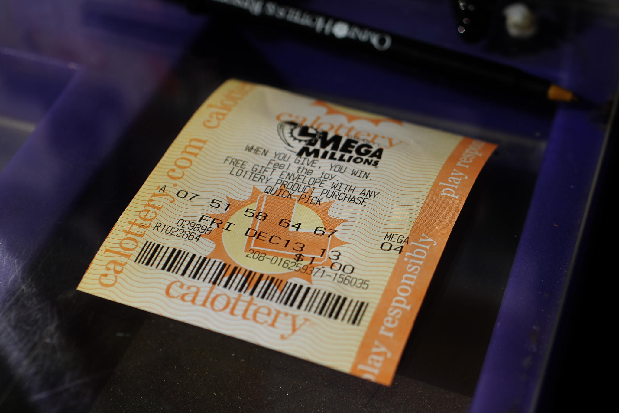 There's a 1 in 259 million chance that a ticket will win the Mega Millions lottery.