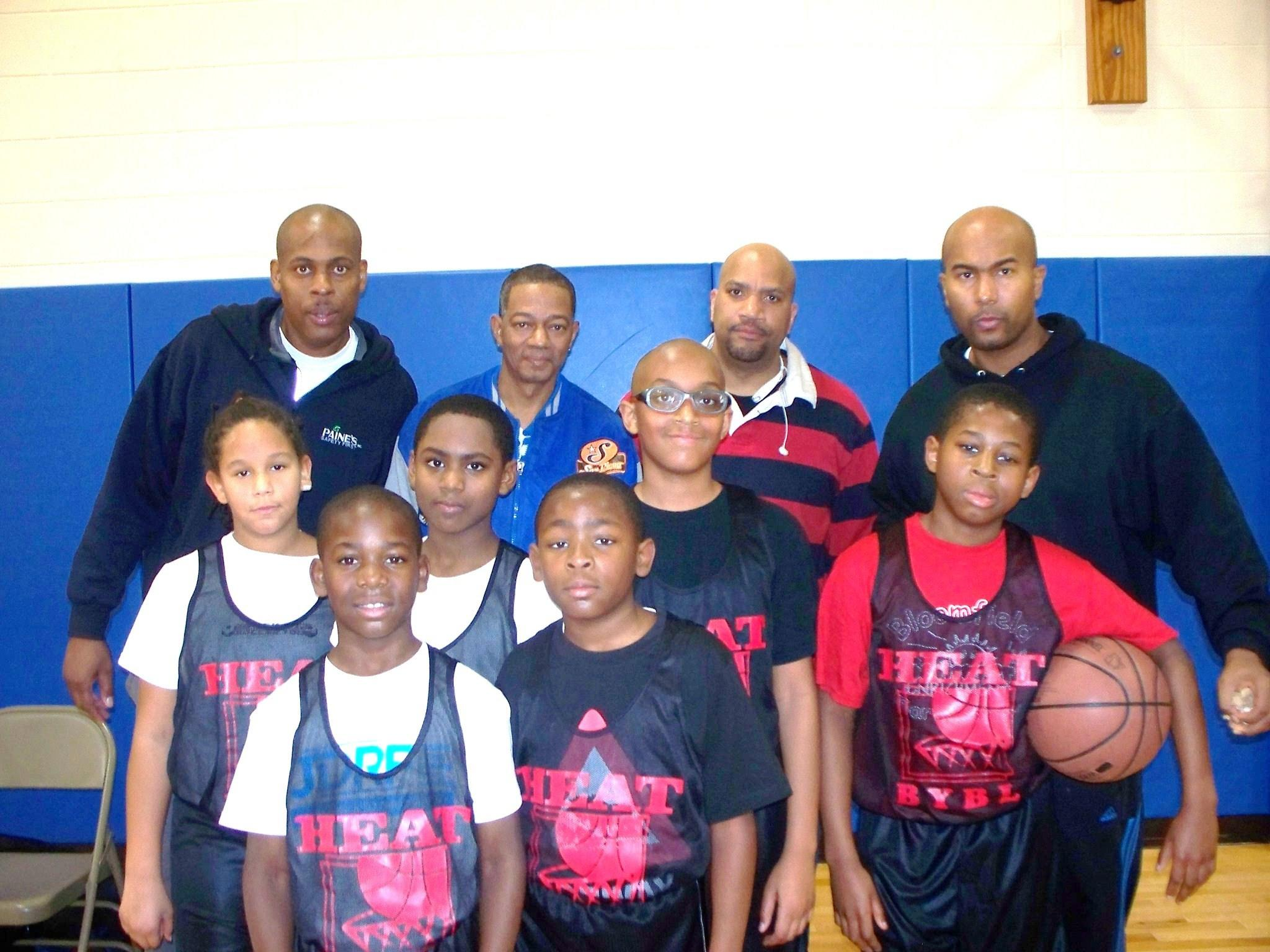 The BYBL 5th/6th grade division Heat players and coaching staff pose for a picture. The Heat defeated the Cavaliers 24-11 in week six play last Saturday, March 8.